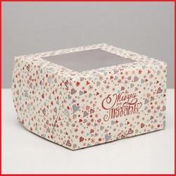 Коробка 4 ячейки 16х16х10 см. Жизнь это любовь окно 1