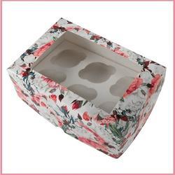 Коробка 6 ячеек 25х17х10 см. Розы/окно 1