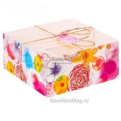 Упаковка для 4 капкейков Вкусные радости 1