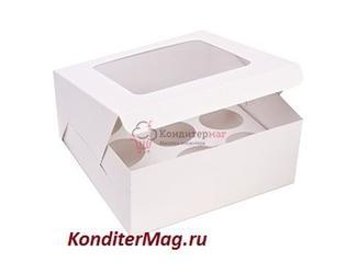 Упаковка для 9 капкейков Белла с окошком 1