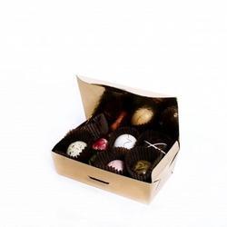Коробка для конфет 12,5х6,5 см. 6 ячеек Балотин золото 1