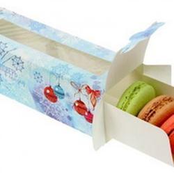 Упаковка для макарунс с окошком Поверь в сказку 18х5,5х5,5 см, 1