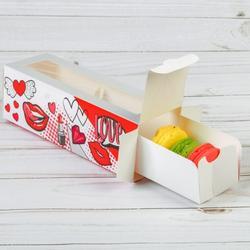 Коробка для макаронс 18х5,5х5,5 см. Стильной тебе 5 шт. 1