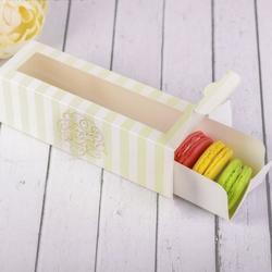Упаковка для макарунс 18х5,5х5,5 см. Только для тебя тиснение 5 шт. 1