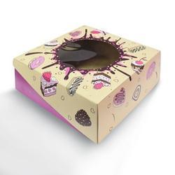 Упаковка для сладостей 22х8 см. Сладкая жизнь с окошком 1