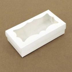 Коробка для сладостей 20х10х5 см. Бел/резное окно 1