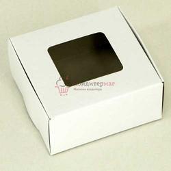 Упаковка для сладостей 10х10х5 см. Белла с окошком 1