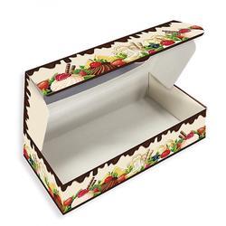 Коробка для сладостей 21х10х5 см. Яркий десерт по56750 2