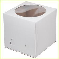 Коробка для торта 24х24х24 см. Бел/окно 1