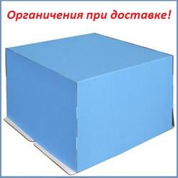 Упаковка для торта 5 кг. 40х40х30 см. Голубая 1