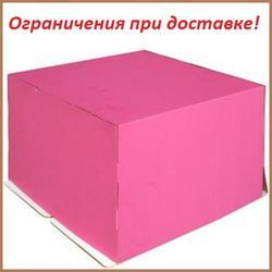 Упаковка для торта 5 кг. 40х40х30 см. Розовая 1