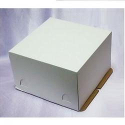 Упаковка для торта 3 кг. 30х30х25 см. Белая 2