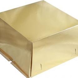 Упаковка для торта 3 кг. 30х30х19 см. Золотая 1