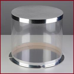 Тубус для торта 30х21 см. Серебро 1