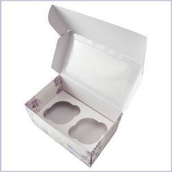 Коробка 2 ячейки 16х10х8 см. Сирень/окно 2