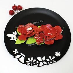 Украшение сахарное Букет  Шиповник Красный 1