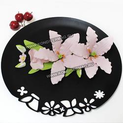 Украшение сахарное Букет Лилия Розовая 1