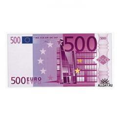 Вафельная картинка Евро (500 €) 1 шт. 1