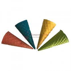 Вафельный рожок для мороженого 110х46 мм. Цветной 12 шт. 1