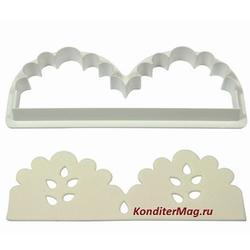 Выемка-штамп для бордюров и рюш торта 13,5х5 см. 2