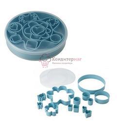 Формочка для печенья Дроммар 12 шт. пластик, в контейнере 1