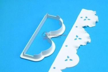 Выемка-штамп для бордюров и рюш торта 13,5х5 см. 1