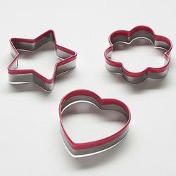 Формочка для печенья Сердце, звезда, цветок металл Webber 1