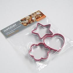 Формочка для печенья Сердце, звезда, цветок металл Webber 2