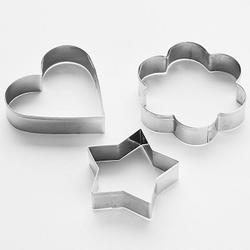 Формочка для печенья Звезда, сердце, цветок 3 шт. металл Webber 1