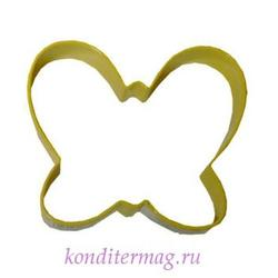 Формочка для печенья Бабочка желтая 9х7,5 см. металл Вилтон 1