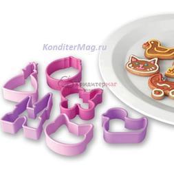 Формочка для печенья Для девочек 6 шт. пластик Delicia Kids 1