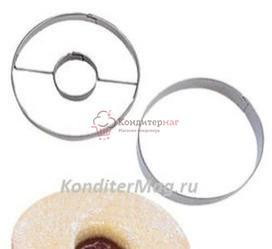 Формочка для печенья Круг с начинкой 5,5 см. металл Tescoma 1