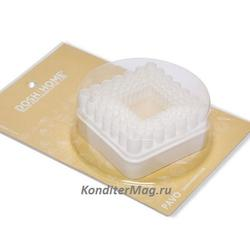 Формочка для печенья Квадрат рифленый 5 шт. пластик Pavo 1