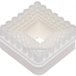 Формочка для печенья Квадрат рифленый 5 шт. пластик Pavo 2