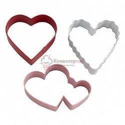Формочка для печенья Сердца 3 шт. на кольце металл Вилтон 1