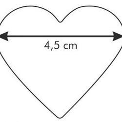 Формочка для печенья Сердце 4,5 см. металл Tescoma 2