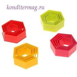 Формочка для печенья Шестиугольник 5 шт. 1