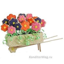 Формочка для печенья Цветы 6 шт. пластик Вилтон 2