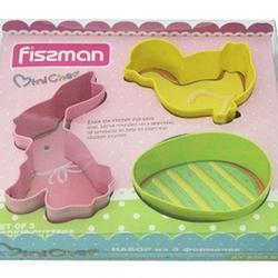 Формочка для печенья Яйцо, зайчик, цыпленок 3 шт. металл Fissman 1