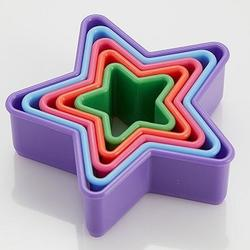 Формочка для печенья Звезда 5 шт. пластик Webber 1