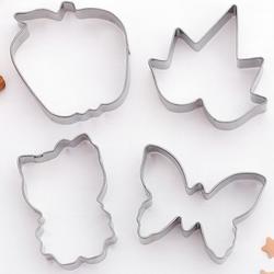 Формочка для печенья Китти, бабочка, лист, яблоко 4 шт. металл 1