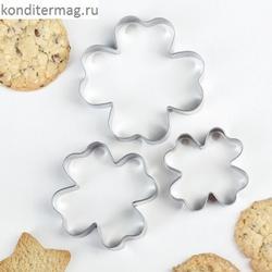 Формочка для печенья Клевер 3 шт. металл 1