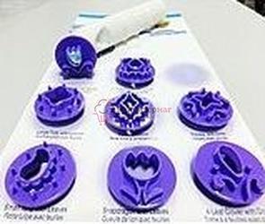 Выемка-штамп для торта Орнамент 8 шт. пластик 1