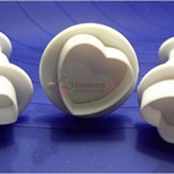 Плунжер кондитерский Сердечки мини 3 шт. 2