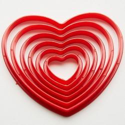 Формочка для печенья Сердце 6 шт. Webber 1