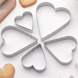 Формочка для печенья Сердце 5 шт. металл 1