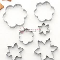 Формочка для печенья Снежинка, цветок 6 шт. металл 1