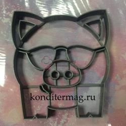Формочка для печенья Свин в очках 10,5х9,5 см. пластик 1