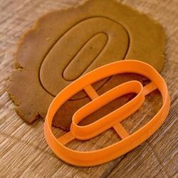 Формочка для печенья Цифра 0 пластик 8,5 см. 1