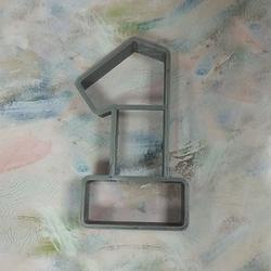 Формочка для печенья Цифра 1 пластик 8,5 см. 1